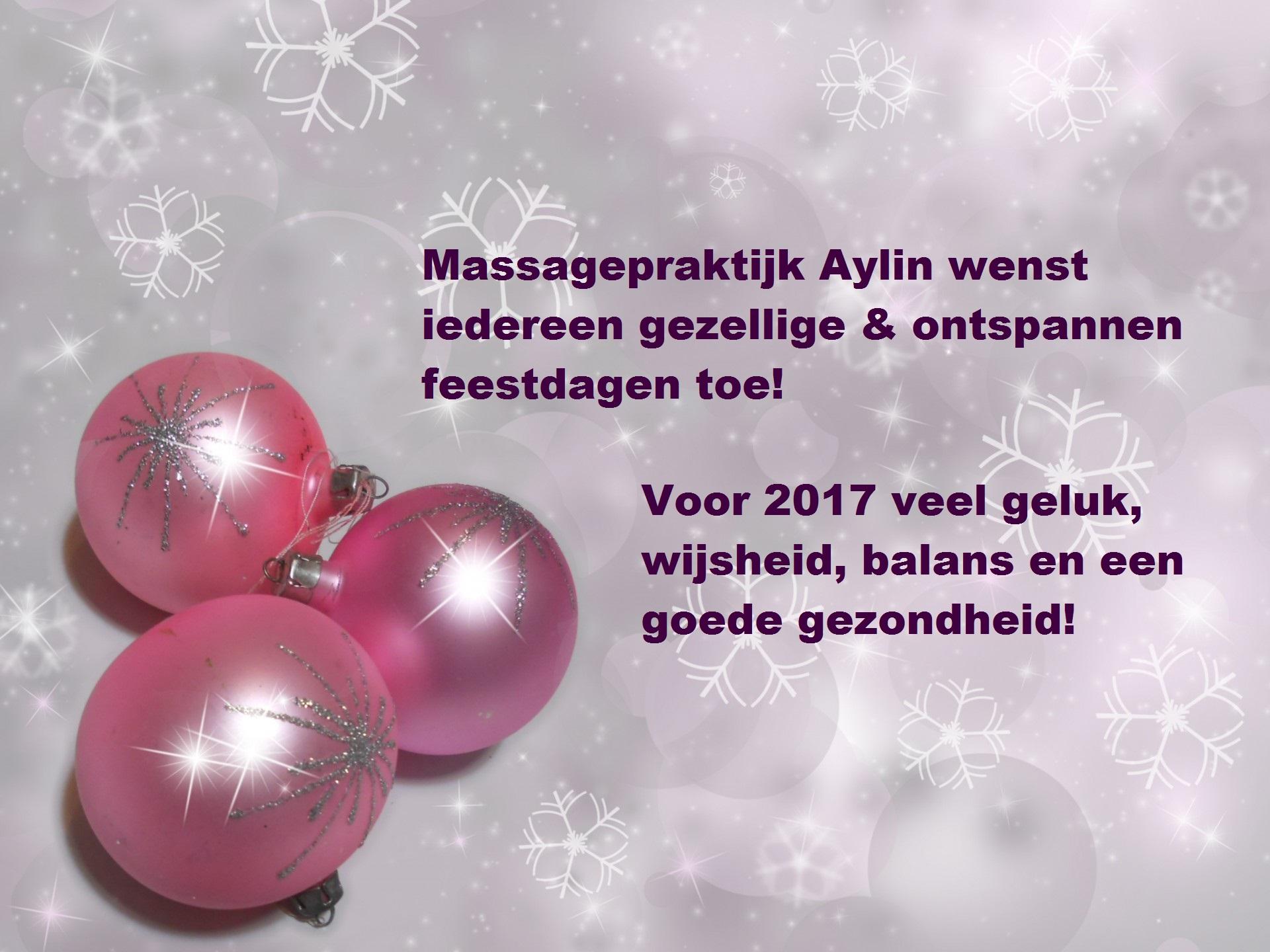 kerstwens 2016 Massagepraktijk Aylin